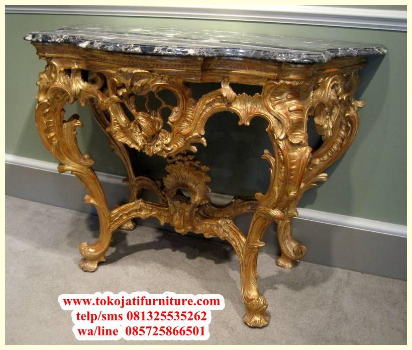 meja console antik ukiran mewah