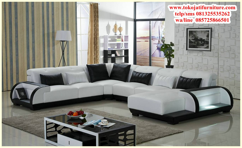 Sofa Sudut Minimalis Modern Desain Furniture Jepara Ukiran