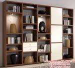 lemari buku minimalisan modern