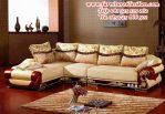 desain sofa sudut jati ukiran modern