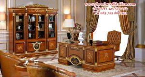 meja kantor jati direkture mewah modern