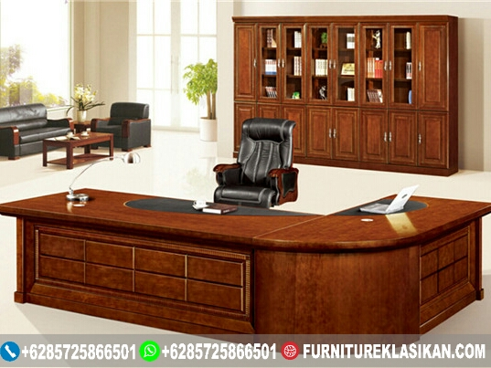 Meja-Kantor-Jati-Classic-Mewah Meja Kantor Jati Classic Mewah