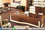 Meja Kantor Jati Luxury